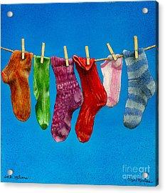 Sock Options... Acrylic Print by Will Bullas