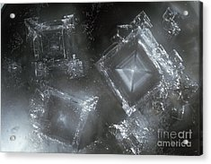 Sodium Hydroxide Crystals Acrylic Print by Charles D Winters