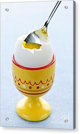 Soft Boiled Egg In Cup Acrylic Print by Elena Elisseeva