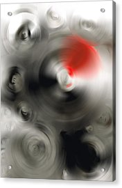 Soft Dance - Abstract Art By Sharon Cummings Acrylic Print by Sharon Cummings
