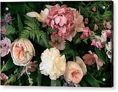 Soft Floral Bouquet In Pink Acrylic Print by Linda Phelps