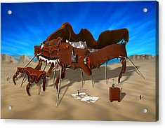 Soft Grand Piano Acrylic Print by Mike McGlothlen