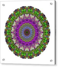 Soft Light - Kaleidoscope Mandala By Sharon Cummings Acrylic Print by Sharon Cummings