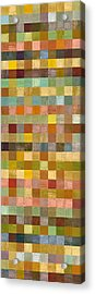 Soft Palette Rustic Wood Series Collage Lll Acrylic Print by Michelle Calkins