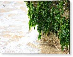 Soft Waves Of Green Acrylic Print by Jennifer Apffel