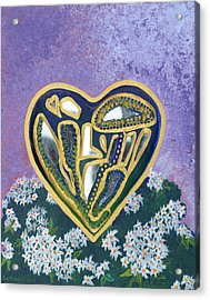 Softened Heart Best Reflections Energy Collection Acrylic Print by Catt Kyriacou