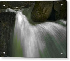Softwater Of Cascade Creek Acrylic Print by Bill Gallagher