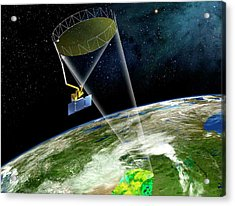 Soil Moisture Active Passive Satellite Acrylic Print by Nasa/jpl-caltech