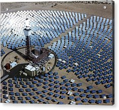 Solar One Acrylic Print by Sandia National Laboratories/us Department Of Energy
