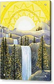 Solar Plexus Chakra Acrylic Print by Catherine G McElroy