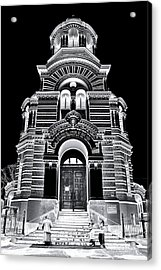 Solar Silver - Nativity Of Christ Orthodox Cathedral - Riga - Latvia Acrylic Print by David Hill