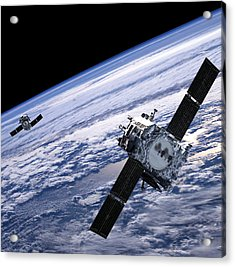 Solar Terrestrial Relations Observatory Satellites Acrylic Print by Anonymous