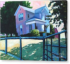 Sold Childhood Home Comissioned Work Acrylic Print by Charlie Spear