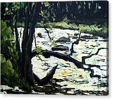 Sold Eel River From The Sandbar Acrylic Print by Charlie Spear