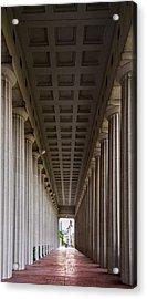 Soldier Field Colonnade Acrylic Print by Steve Gadomski