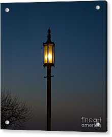 Solitary Gas Light Acrylic Print by Tim Mulina