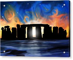 Solstice At Stonehenge  Acrylic Print by David Kyte