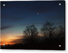 Solstice Moon Acrylic Print by Bill Wakeley