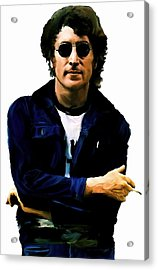 Sometime In Nyc  John Lennon Acrylic Print by Iconic Images Art Gallery David Pucciarelli