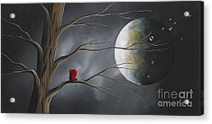 Sometimes He Just Wants To Be Alone By Shawna Erback Acrylic Print by Shawna Erback