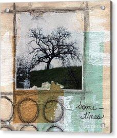 Sometimes Acrylic Print by Linda Woods