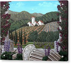 Somewhere In Tuscany Acrylic Print by Gerry High