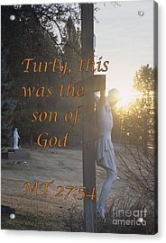 Son Of God Acrylic Print by Sharon Elliott
