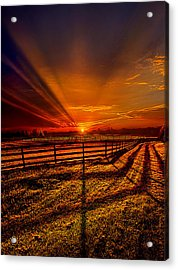 Song Of The Setting Sun Acrylic Print by Phil Koch