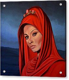 Sophia Loren Acrylic Print by Paul Meijering