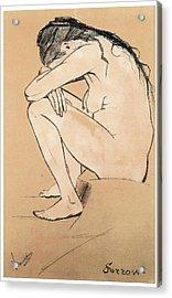 Sorrow Acrylic Print by Vincent van Gogh
