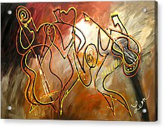 Soul Jazz 2 Acrylic Print by Leon Zernitsky