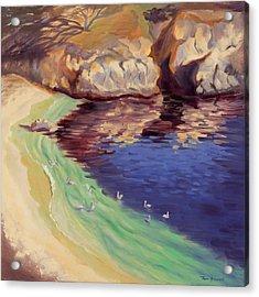 Soulful Sanctuary Point Lobos Acrylic Print by Karin  Leonard