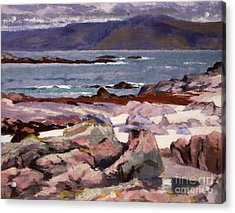 Sound Of Iona  The Burg From The North Shore Acrylic Print by Francis Campbell Boileau Cadell