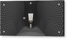 Soundproof Toilet Cubicle Acrylic Print by Allan Swart