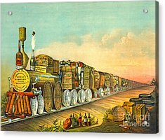 Sour Mash Express 1877 Acrylic Print by Padre Art
