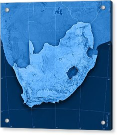 South Africa Topographic Map Acrylic Print by Frank Ramspott