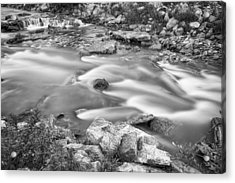 South Boulder Creek Little Waterfalls Rollinsville Bw Acrylic Print by James BO  Insogna