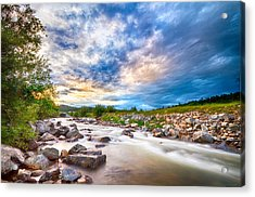 South Boulder Creek Sunset View Rollinsville Colorado Acrylic Print by James BO  Insogna