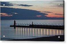 South Haven Michigan Lighthouse Acrylic Print by Adam Romanowicz