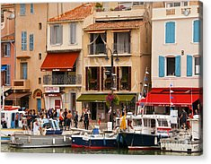 South Of France Fishing Village Acrylic Print by Bob Phillips
