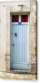 South Of France Pale Blue Door Acrylic Print by Georgia Fowler