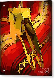South Western Style Art With A Canadian Moose Skull  Acrylic Print by John Malone