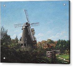 Southampton Bursledon Windmill Acrylic Print by Martin Davey