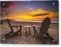 Southampton Shores View For 2 Acrylic Print by Ryan Moore