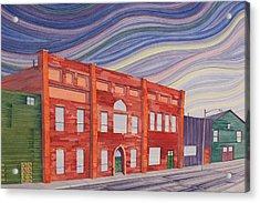 Southern Plains Townsacpe Acrylic Print by Scott Kirby