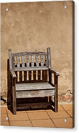 Southwestern Bench Acrylic Print by Art Block Collections