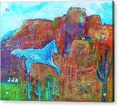 Southwestern Dreamscape  Acrylic Print by Anne-Elizabeth Whiteway