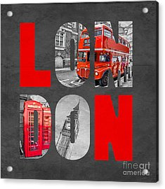 Souvenir Of London Acrylic Print by Delphimages Photo Creations