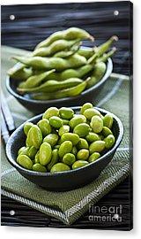 Soy Beans  Acrylic Print by Elena Elisseeva