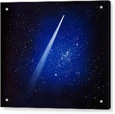 Space, Comet And Stars Acrylic Print by Panoramic Images